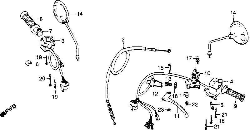 honda cb1000c wiring diagram