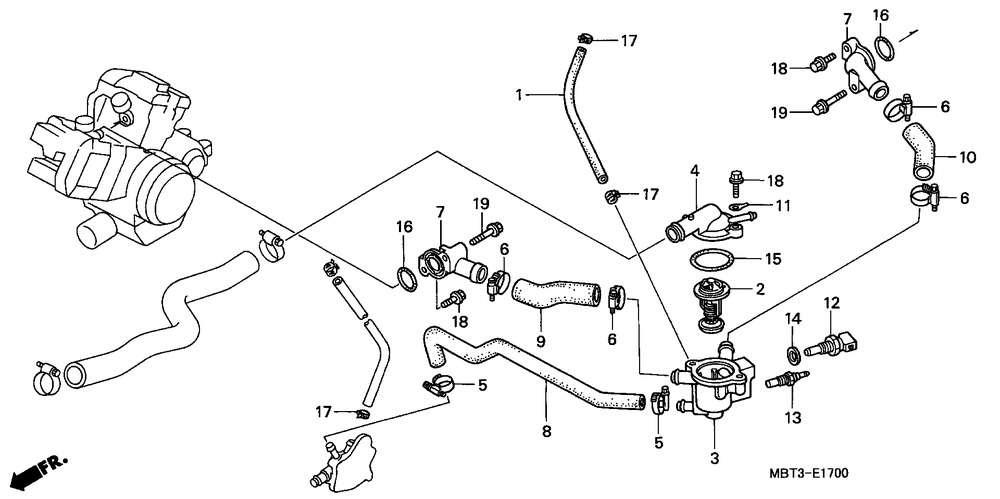 2000 honda cr250r parts